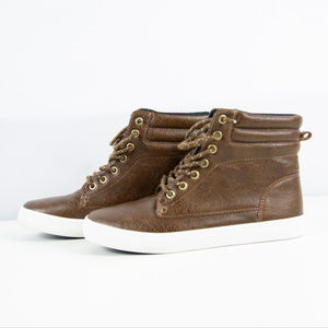 OLD NAVY Faux-Leather Lace-Up High-Tops for SIZE 4
